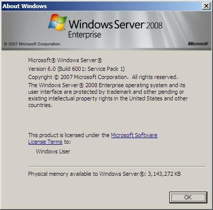 Windows Server 2008 SP1